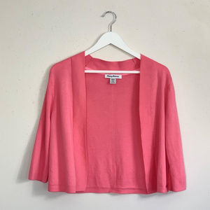 Tommy Bahama Pink Open Cardigan Size Medium